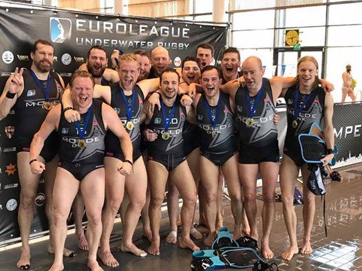 Molde UVK gewinnt zum fünften Mal in Folge die European Underwater Rugby League.