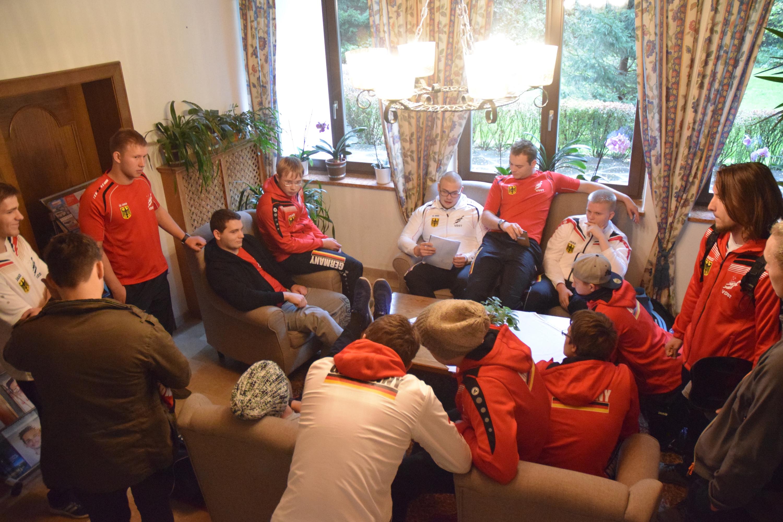 Besprechung der U21 Junioren